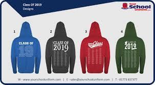 Class Of 2019 Embroidery Design Class Of 2019 Hoodies Your School Uniform Com