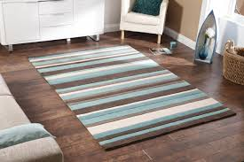 cobolt blue and brown rugs toronto retro modern brown teal blue hand carved rug