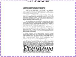 theme analysis essay rubric homework service theme analysis essay rubric this standards based rubric focuses on theme development rl2
