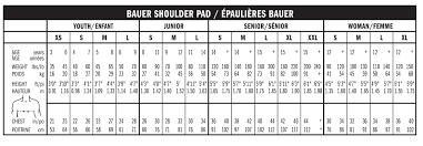 Easton Shoulder Pad Sizing Chart Rational Easton Elbow Pad Sizing Chart 2019