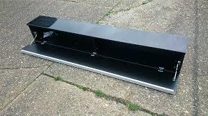 ikea besta burs black high gloss large wall unit shelf dvd rack