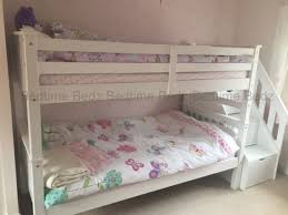 white bunk bed with stairs. Brilliant Bed Staircase Bunk Bed Inside White With Stairs