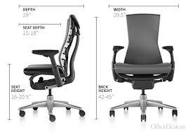 embody chair herman miller. Herman Miller Embody Chair Dimensions