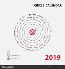 Circle Calendar Template Circular Calendar Template 2019 Calendar Template Circle