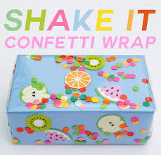 diy shake it confetti gift wrap tutorial from paperchase