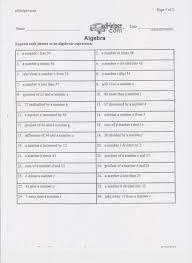 translating verbal expressions worksheets translating inequalities worksheet image collections worksheet for