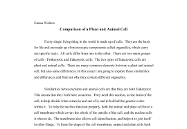 comparison of a plant and animal cell a level science marked document image preview