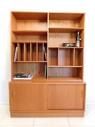 Retro Credenza Poul Hundevad Danish Teak Bookcase And Credenza Vintage Mid