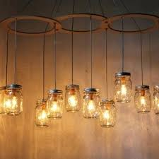 mason jar chandelier light canopy style large swag ceiling fixtures diy lighting mason jar