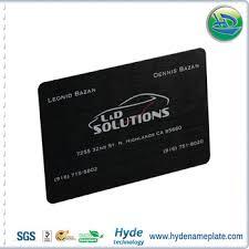 Custom Design Anodized Aluminum Business Card Blankvarious Color