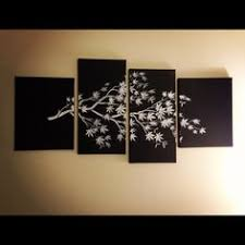 diy canvas art buy or salvage multiple canvases spray them a base color then stencil a top color over it using stencils such as this one  on multiple canvas wall art diy with personalized canvas wall art decoration larger sizes on etsy