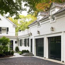 White exterior, black garages. I don't think I will ever tire of ...