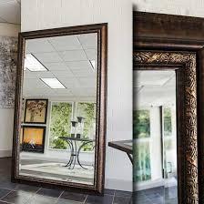 espresso frame for floor mirror