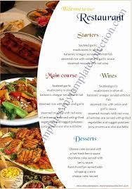 20 Free Restaurant Menu Templates 337645659539 Free Menu