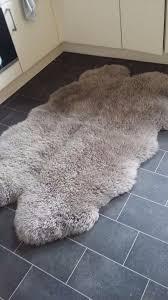 Large mink coloured sheepskin rug  Dunelm Mill  nearly new