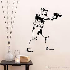 star wars storm trooper wall decal sticker home diy decoration wall mural removable bedroom decor stickers