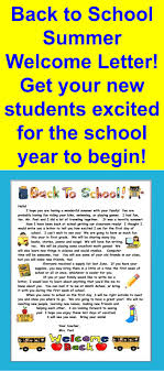 Welcome Back To School Letter Templates Back To School Letter Template Insaat Mcpgroup Co