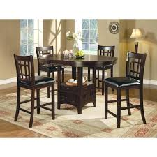 table and 4 chairs cappuccino finish counter dining set white round table 4 chairs
