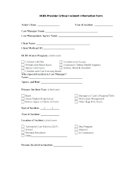 Theft Incident Report Template