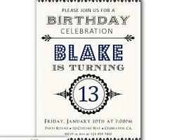 Free 13th Birthday Invitations 13th Birthday Invites Boy Teen Boy 13th Birthday Invitations