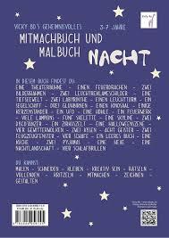 Vicky Bos Geheimnisvolles Mitmachbuch Malbuch Nacht Buch