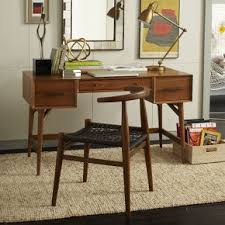 mid century office furniture. Exellent Century West Elm Mid Century Desk Acorn Legs  Work Desks Office Tables  Furniture Throughout