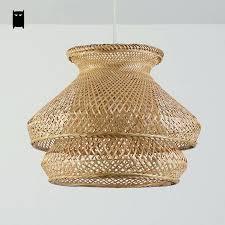 wicker pendant light. Wicker Pendant Lights Australia Bamboo Rattan Shade Chandelier Light Fixture Vintage D