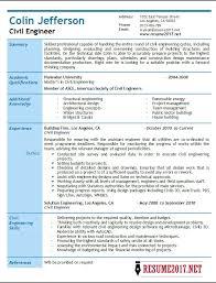Civil Engineer Resume Custom Civil Engineer Resume 28 Samples