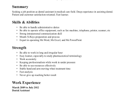 Resume Certified Dental Assistant Resume Example Summary Skills