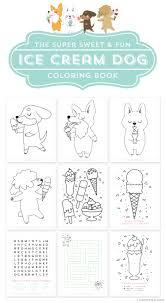 Free Printable Ice Cream Dog Coloring
