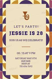 Party Invitation Generator Invitation Generator For A Birthday Party With A Trumpet Illustration 1684b