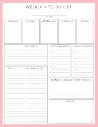Printable Weekly Planner Template The Best Blank Calendar Template