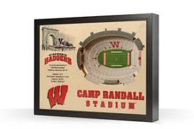 Wisconsin Badgers Camp Randall Stadium 3d Wood Stadium Replica 3d Wood Maps Bella Maps