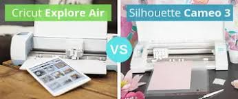 Silhouette Machine Comparison Chart Cricut Explore Air Vs Silhouette Cameo 3 Personal Die Cutting
