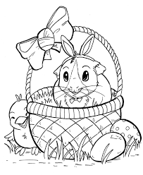 Small Picture Coloring Pages Cute Guinea Pig Sits On A Pillow Coloring Page