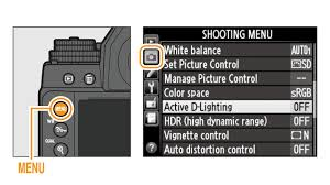 highlight active d lighting in the shooting and press the multi selector right