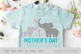 Svgcuts.com blog free svg files for cricut design space, sure cuts a lot and silhouette studio designer edition. 1st Mothers Day Svg Baby Elephant Svg 561139 Cut Files Design Bundles