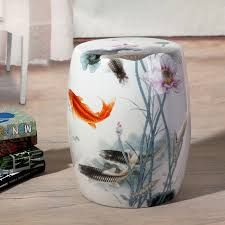 ceramic garden seat. fish pattern jingdezhen porcelain garden stool ceramic for dressing table drum chinese stools-in stools \u0026 ottomans from furniture on seat