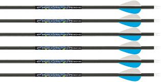 Carbon Express Crossbow Arrow Chart Carbon Express Predator 2 Fletched Arrows
