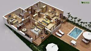3d luxurious residential floor plan