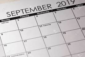 Patriot Day In Selective Focus On The Simple September 2019 Calendar