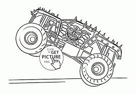 Graveger Coloring Pages Truck Monster Sheets Colouring Rare Grave