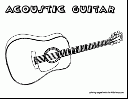 Small Picture beautiful electric guitar coloring pages with guitar coloring