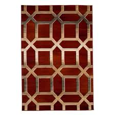 lavish home opus art deco burdy 8 ft x 10 ft area rug