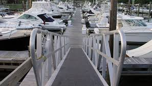 a wheelchair ramp to a boating dock must meet requirements