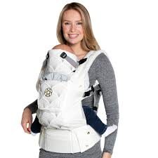 Buy LÍLLÉbaby Complete Embossed LUXE Baby Carrier, Brilliance White ...