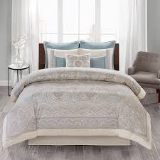 echo design larissa cal king cotton sateen comforter set in blue olliix eo10 2252