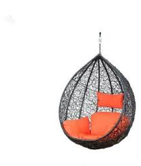 Hanging swing chair Rattan Swing Carry Bird Hanging Swing Chair With Cushion Hookcolor Brown For Outdoor Snapdeal Carry Bird Hanging Swing Chair With Cushion Hookcolor Brown For
