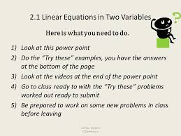 1 2 1 linear equations