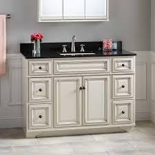 White Bathroom Vanity Cabinet 48 Misschon Vanity For Rectangular Undermount Sink Antique